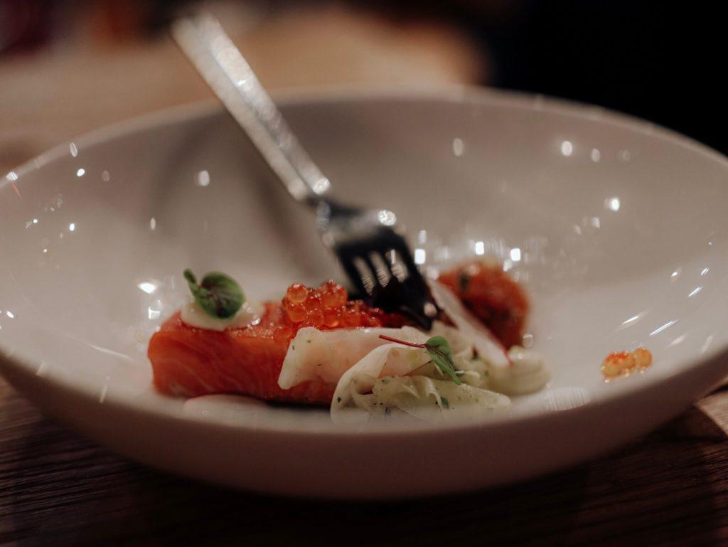 Kaviar mit Lachs